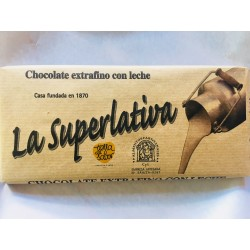 Chocolate extrafino con leche La Superlativa