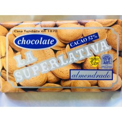 Chocolate cacao 52% con almendras